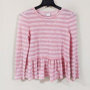 Anthropologie | Postmark Pink Skirted Sweater
